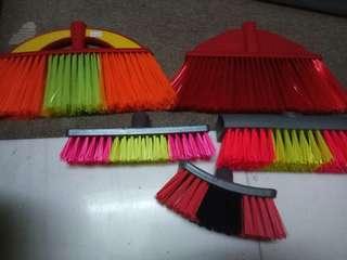 Broom with stick