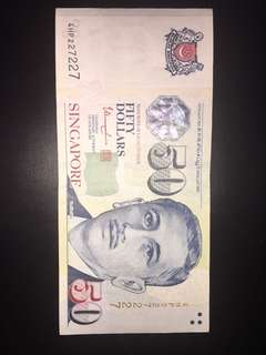 Yusof Ishak Dollar with nice number