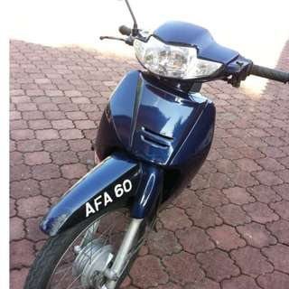 Honda Wave with Plat Number AFA 60