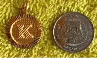 """Letter """"K"""" - Gold 916 Locket ❤️❤️"""
