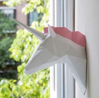 3D Unicorn Paper Model Craft