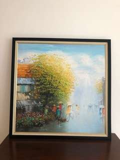 Oil Painting (Vietnamese hand painting and frame)