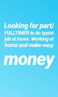 work at home part/full timer and make easy money