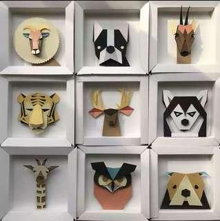 HANDMADE Animal Paper frame!!