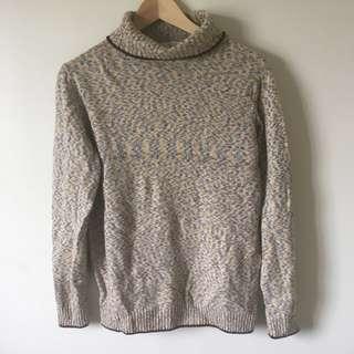 🚚 [古著/vintage] 花紗羅紋收邊長袖毛衣
