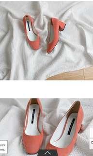 韓國低跟鞋 尺寸24.5