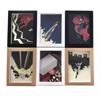 HANDMADE!! SUPERHEROES paper frame