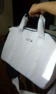 Lacoste White Traveling Bag