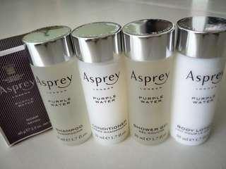 Asprey London Purple Water toiletries