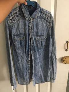 Forever 21 Denim Button Up