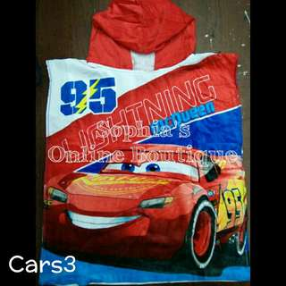 Kids Character Hooded Bath Towel - CARS #3
