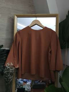 Rust Colored Cape Top