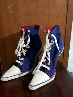 Converse style with heels
