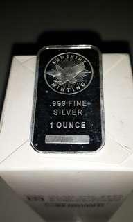 美國純銀銀塊