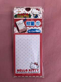 Hello Kitty Memo 纸