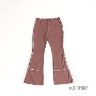 Retro Outlined Bell Bottom Pants