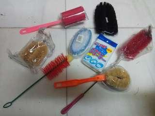 Assorted cleaning brush/scrub