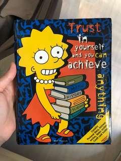 The Simpsons notebook 20th Fox diary 筆記簿 阿森一族 辛普森