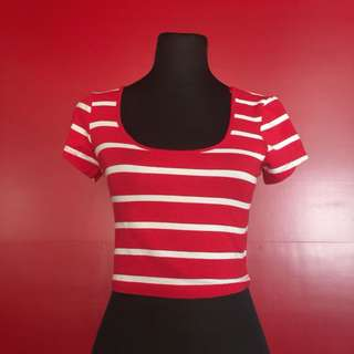 REPRICED‼️ AMBIANCE APPAREL STRIPES CROP TOP