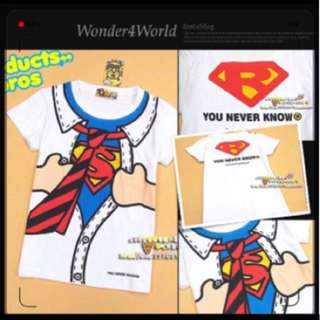 BBR By*a Brothers Products Funny Super Man T-shirt Superman last piece