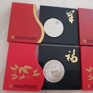 1991 Goat 1992 Monkey Ten dollar Coin
