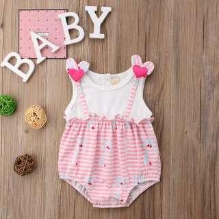 Cute Pink Heart Baby Romper
