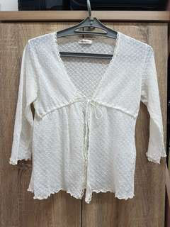 New White lace knit Top