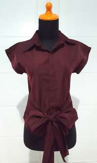 Maroon Shirt Preloved Good Condition