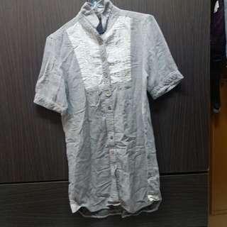 $30/件 二手衫  連身裙 長裙 短袖裙 灰 直間