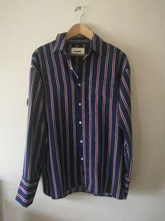 SM Youth Striped Long Sleeve Polo