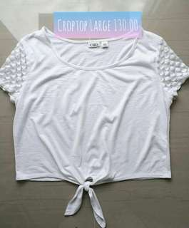 Croptop white with lace