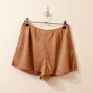 Kendall and Kylie Rose Gold Shorts