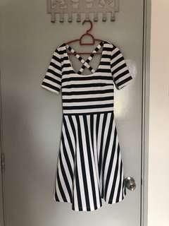 H&M Dress Black&White Stripe