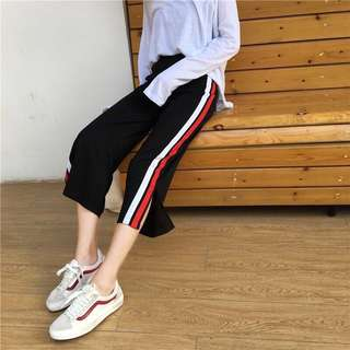 #28 Elastic Striped Joggers