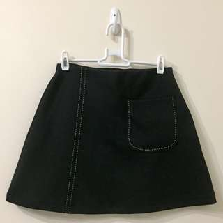 Zara Black Pocket Mini Skirt
