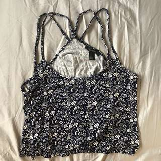 Forever 21 flowy crop top