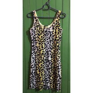 Leopard Print Fitted Minidress