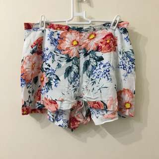 Minkpink White Floral Shorts