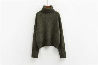 Winter turtle neck green sweater