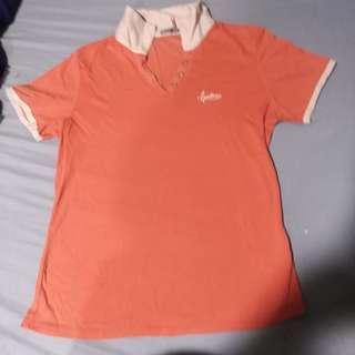 Orange Frenchtoss Polo shirt with White collar