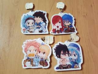 Fairy Tail Couple Keychains