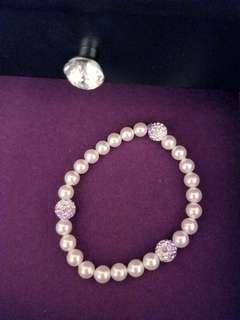 Handmade Pink Peral bracelet