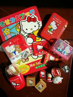 Hello Kitty stamp sets and memo pads