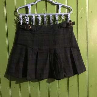 Pull & Bear Plaid Skirt