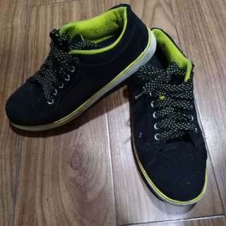 Black and Yellow Accel Sneaker Shoes