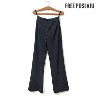 High Waist Stripe Long Pants [Free Poslaju]