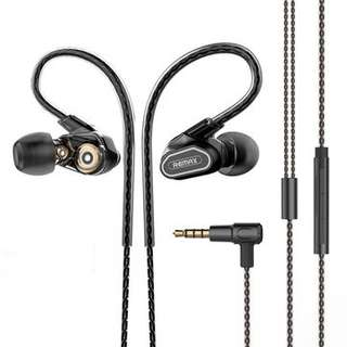 Remax Dual Moving-coil Earphone RM-580