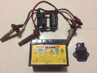 Cb400 Super4 Battery & spark plug cable