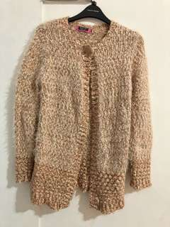 Winter time knitted coat