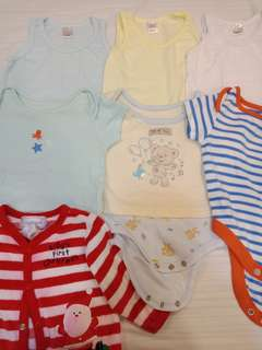7 pieces Assorted Baby Clothes newborn up to 3 months